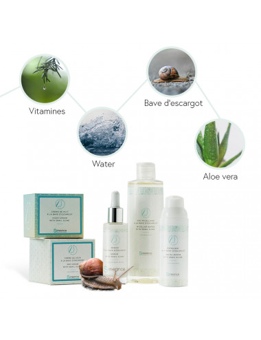 Ingredients of the Skineance snail slime cure
