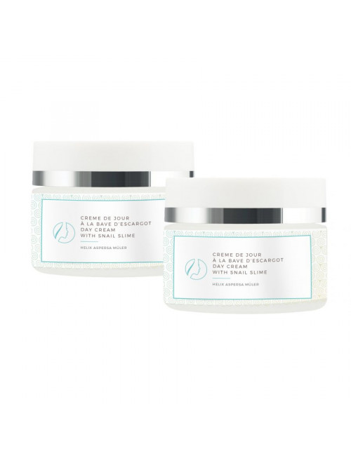 2 regenerating day creams with snail slime